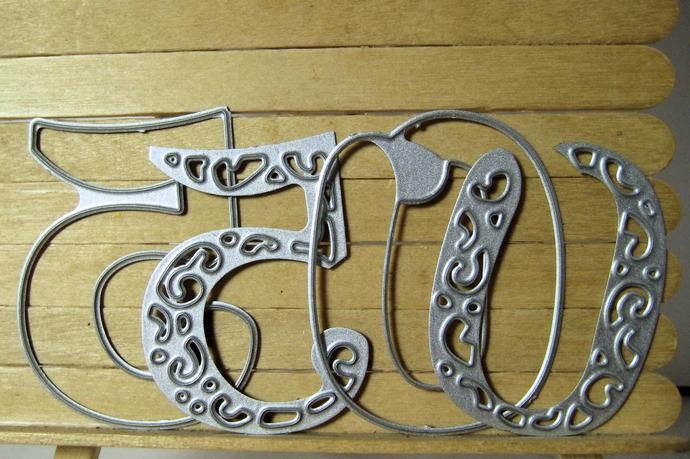 Large Fancy Number Metal Cutting Die Set