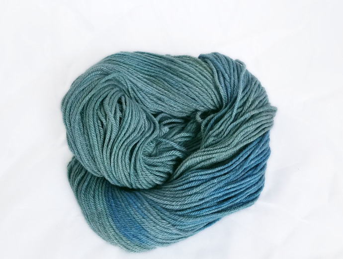 Hand dyed worsted merino yarn - Hello, My Name is Indigo Montoya