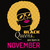 Black Queens Are Born In November, November Girl Svg, Born In November , Living