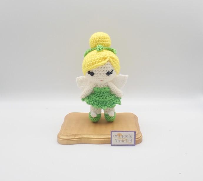 Tinkerbell inspired Handmade Crochet Doll