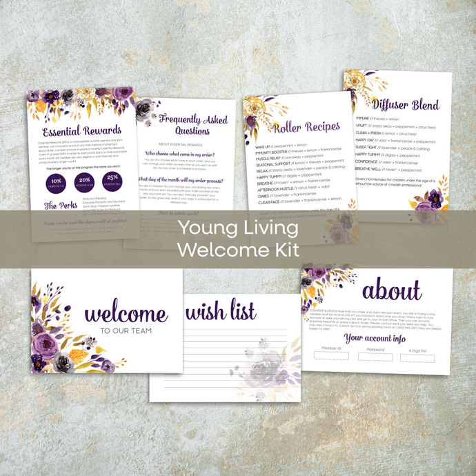RUSTIC Young Living Member Welcome Kit , YL Starter Kit Welcome YL51