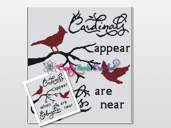 Cardinal Angels Pattern Graph With Single Crochet Written