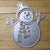 Happy Snowman Metal Cutting Die