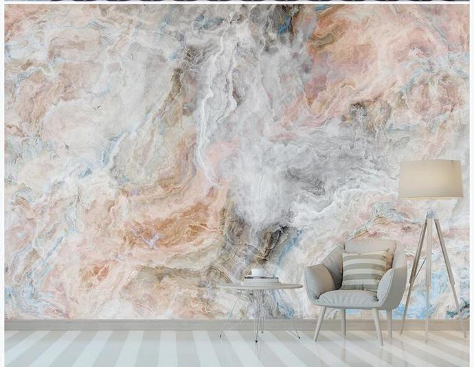 Empire Marble Wallpaper , Colorful Marble Wall Mural Wall Decor for Living or