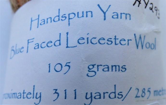 Handspun Yarn – 100% Blue Faced Leicester Wool – 105 grams – Sport Weight –