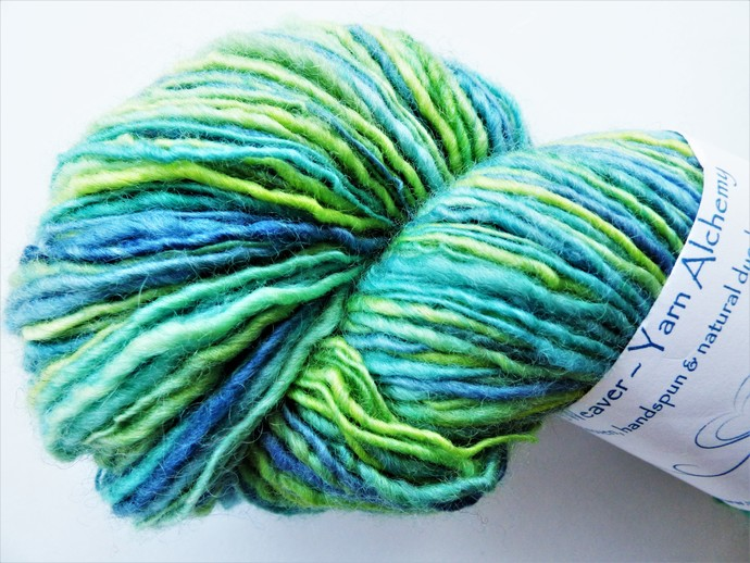Handspun Yarn – 100% Blue Faced Leicester Wool – 105 grams – Sport Weight –