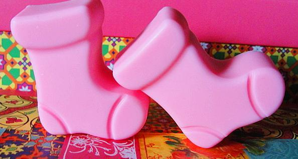 Stocking Folks HOT Pink Vanilla Strawberry -GOATS MILK Soaps