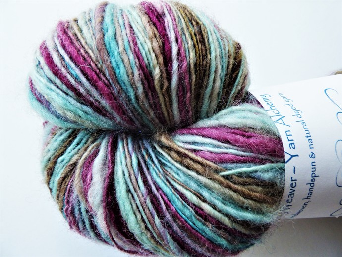 Handspun Yarn – 100% Blue Faced Leicester Wool – 107 grams – Sport Weight –