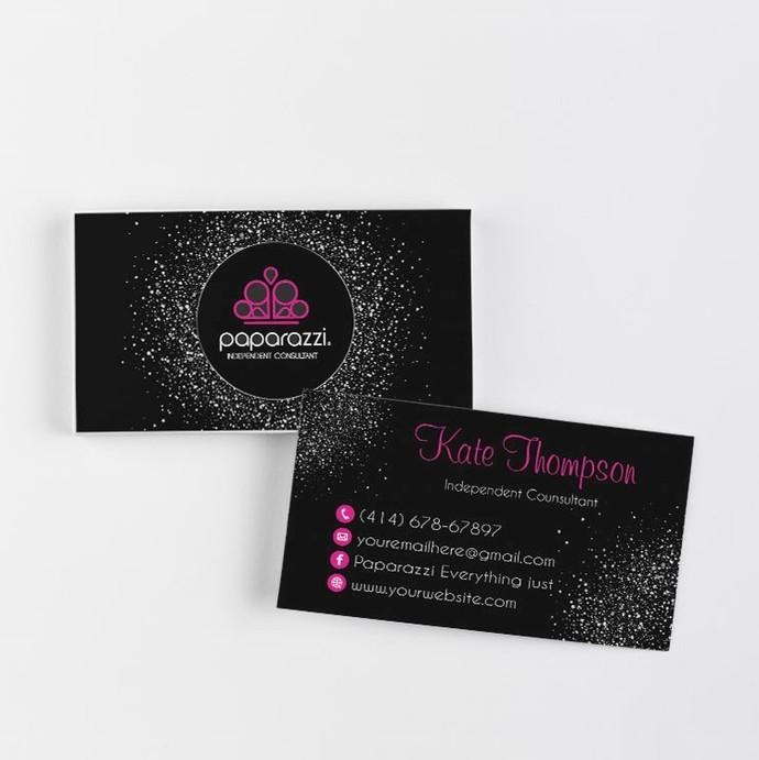 Silver Glitter Paparazzi Business Cards, Paparazzi Accessories, Paparazzi PP27