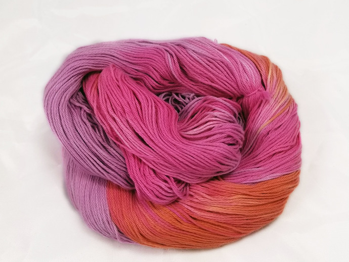 Cotton fingering yarn - Prehistoric Sunrise