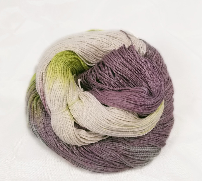 Cotton fingering yarn - Orchid