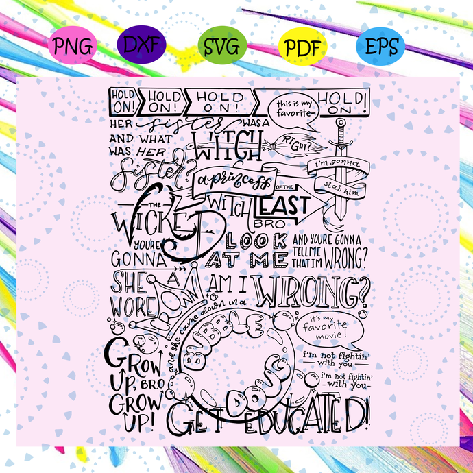 Wicked witch of the East Bro hand lettered svg, wicked witch svg, hand lettering