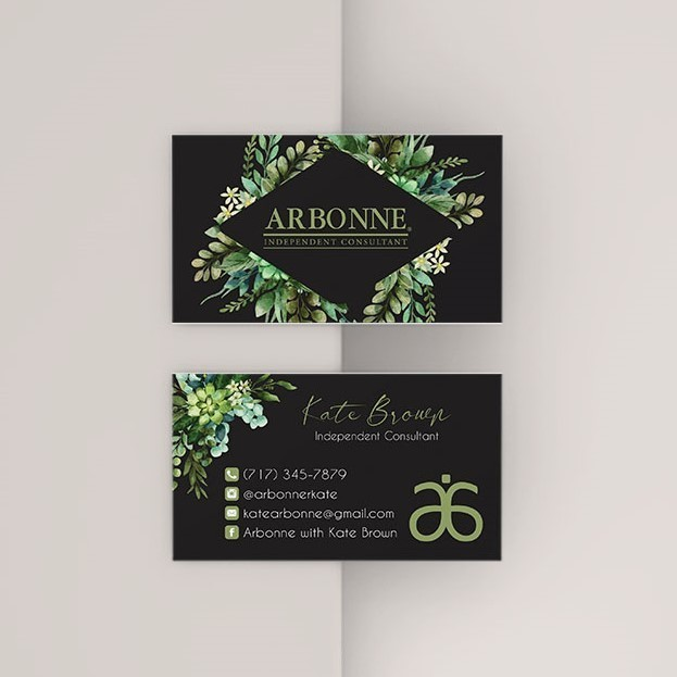 Greenery Arbonne Business Card, Personalized Arbonne business card, Arbonne AB41