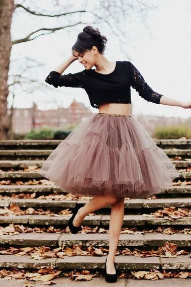Cute  Skirt, Street Style Skirt,A-Line Skirt,Spring Autumn Skirt ,Gray Skirt