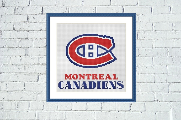 Montreal Canadiens easy cross stitch pattern