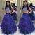 blue prom dresses long 2 pieces beaded elegant tiered prom gowns vestido de