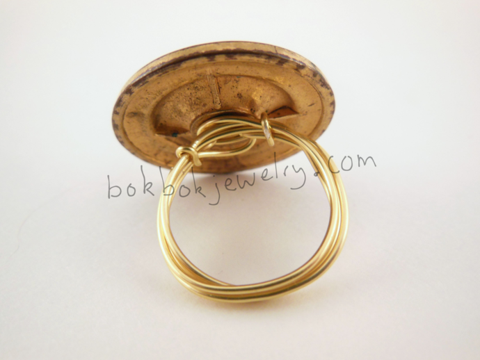 Unique Upcycled Vintage Button Rings