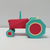 DIY Printable Farm tractor svg,Papercraft Tractor,Tractor gifts,Paper toys,Low
