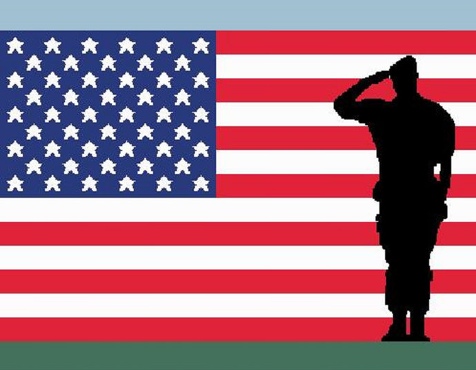 Soldier Saluting US Flag Tapestry Single Crochet Pattern Graph Graphghan Afghan