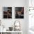 Contemporary Wall Art, Modern Art, Black orange copper diptych, set of 2 , Black