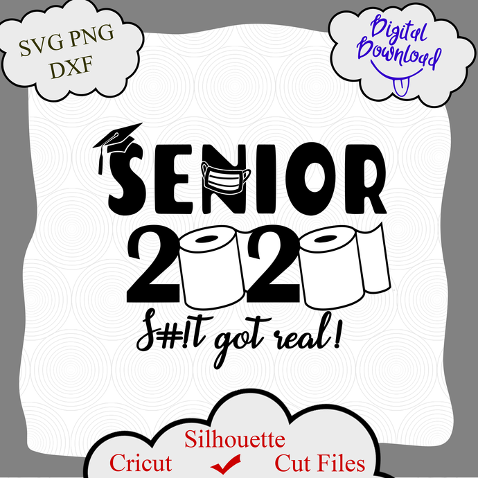 Senior 2020 Svg Quarantined 2020 Class By Digital4u On Zibbet