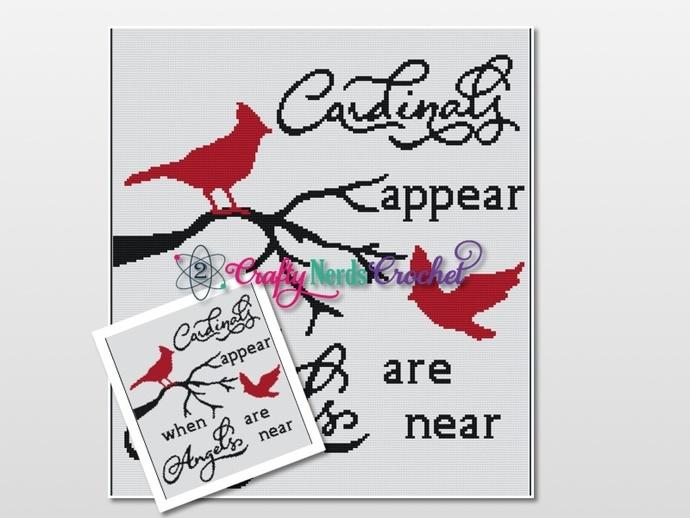 Cardinal Angels 2 Pattern Graph With Single Crochet Written