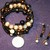 Mother of Pearl and Copper Bead Memory Wire Bracelet Ear Dangle Set