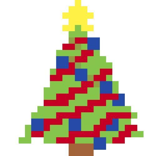Christmas Tree Crochet Pattern Throw Pillow PDF Graph Row by Row Written Color
