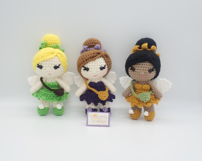 Pippa in Fairy Costume- Crochet Amigurumi Doll Pattern- PDF