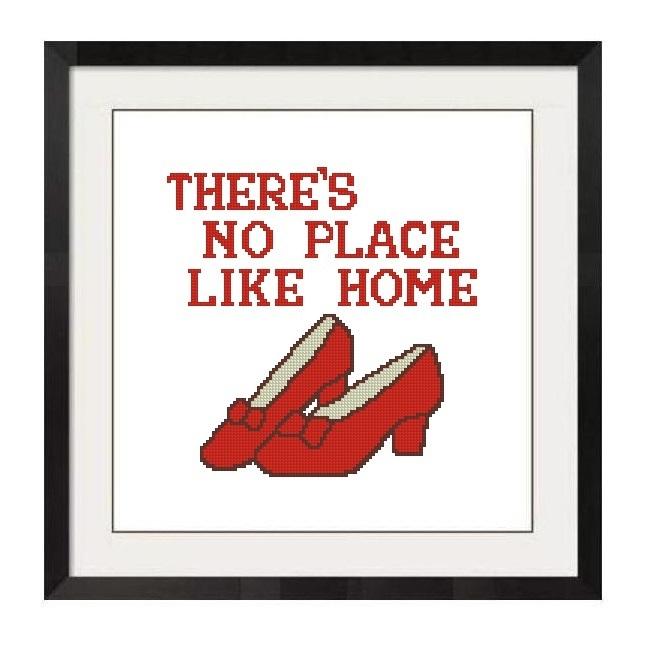 ALL STITCHES - NO PLACE LIKE HOME CROSS STITCH PATTERN .PDF -1256