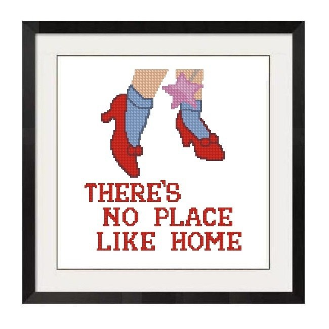 ALL STITCHES - NO PLACE LIKE HOME CROSS STITCH PATTERN .PDF -1257