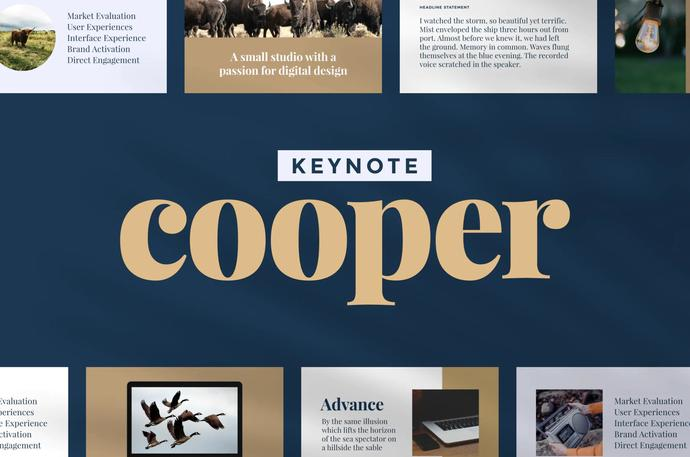 Cooper — Keynote Presentation Template, Business Presentation Template
