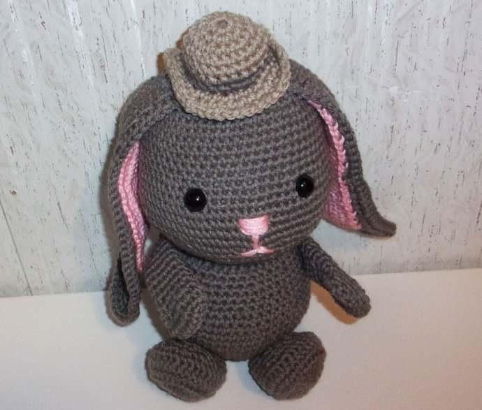 Plush bunny in dress amigurumi | Amiguroom Toys | 587x690