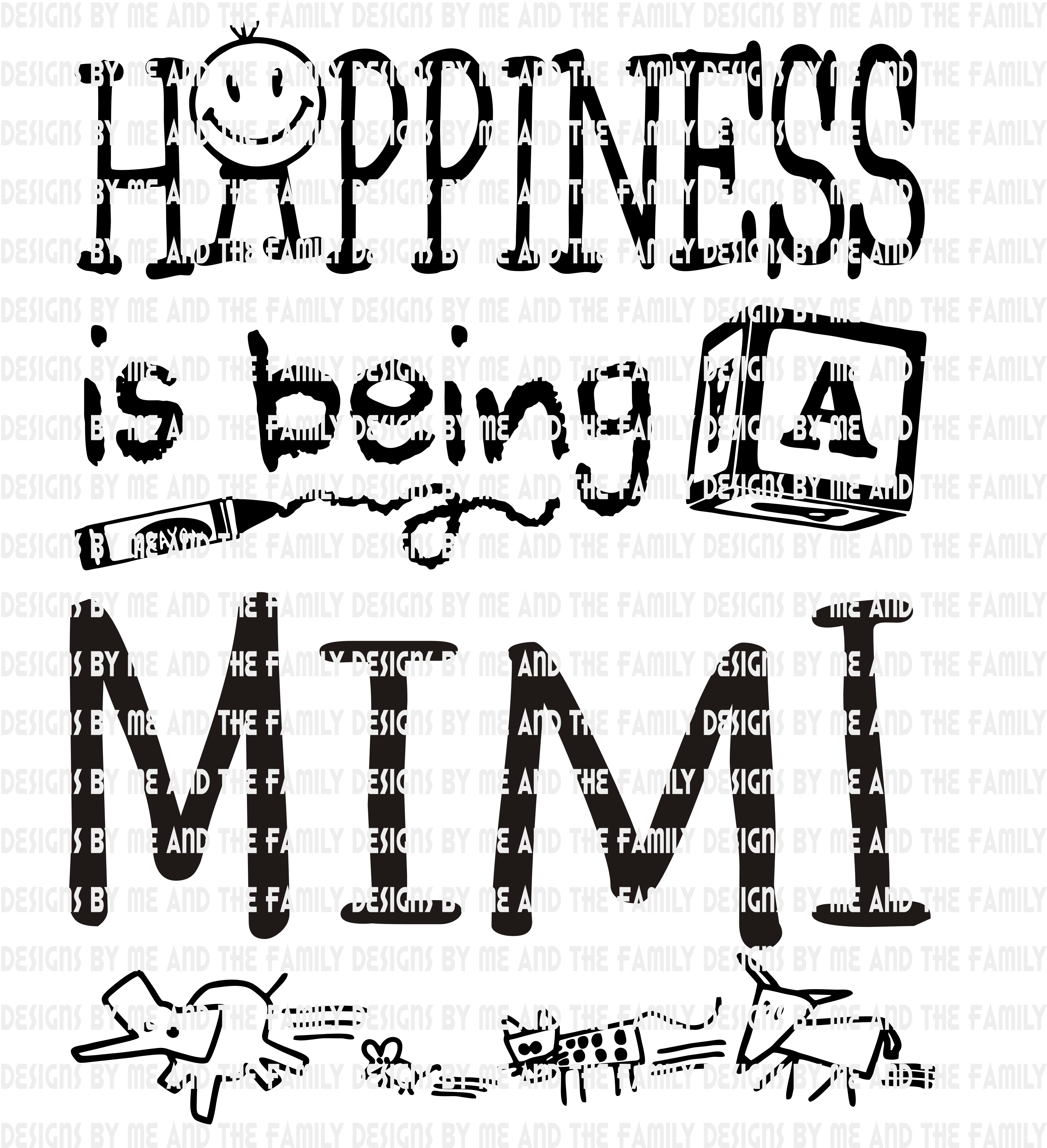 Happiness Is Being A Mimi By Designs By Me And The Family On Zibbet