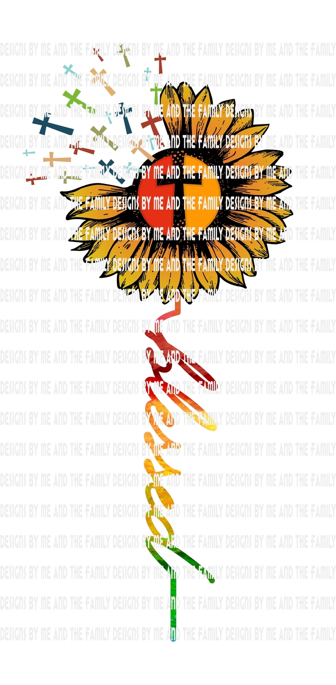 Blessed traditional Sunflower, Hope Sunflower, Faith Sunflower, Jesus Sunflower,