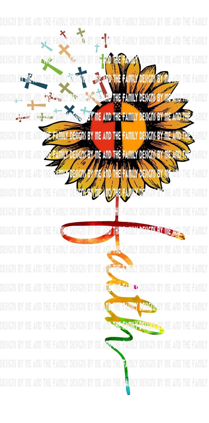 Faith traditional, Sunflower Blessed Sunflower, Hope Sunflower, Jesus Sunflower,