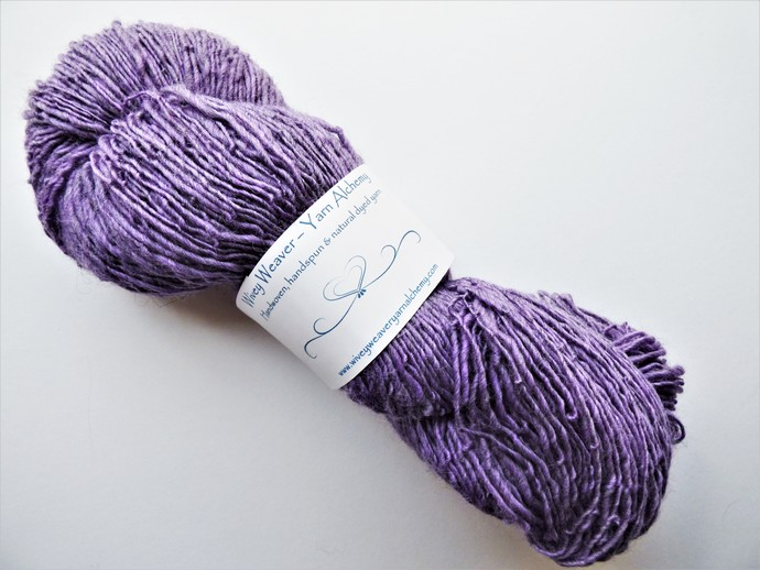 Handspun Yarn –Organic Polwarth and Corriedale Wool Blend – Sport Weight – Lilac