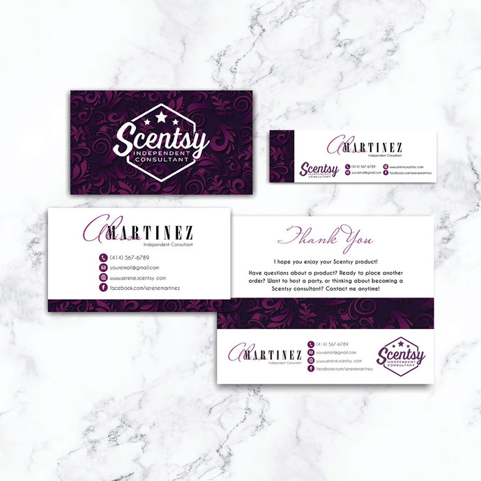 Scentsy Bundle, Scentsy business card, Scentsy Label Card SS01