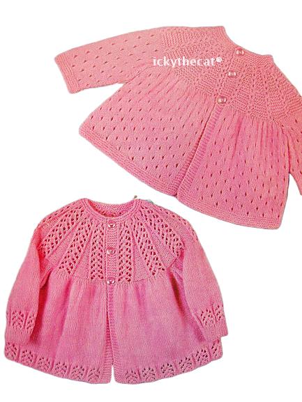 PDF Digital Download Vintage Knitting Pattern 2 Baby Coats Jackets Cardigans 1 -
