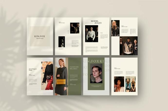 Kinfox - A4 Potrait Keynote, Business Design Keynote Template
