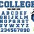 Classic College alphabet SVG 2 layers | Sport font college alphabet letters and