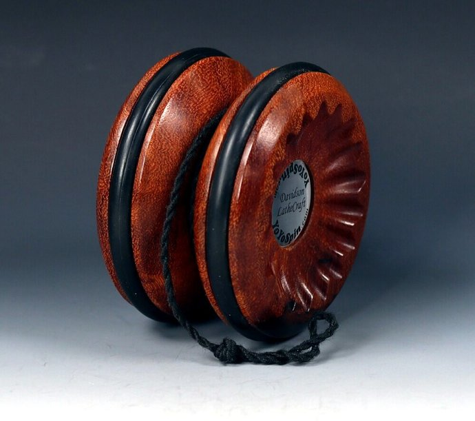 Rare Asian Ironwood Burl Handmade Butterfly Yo-Yo