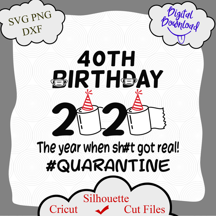 40th Birthday 2020 The Year When Got Real Quarantine Funny Toilet Paper