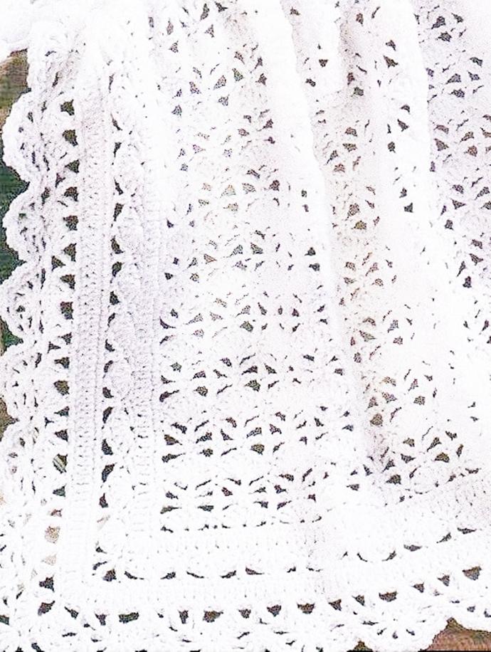 PDF Download  Download Vintage  Crochet Pattern  Lacy Lace Baby Blanket Afghan