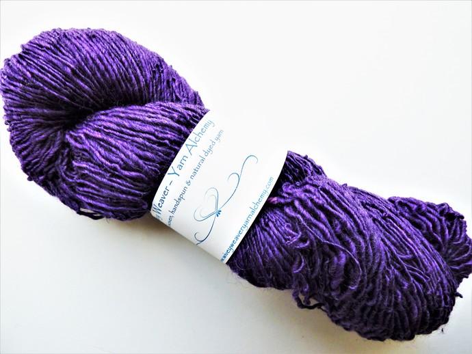 Handspun Yarn –Organic Polwarth and Corriedale Wool Blend – 108 grams – Sport