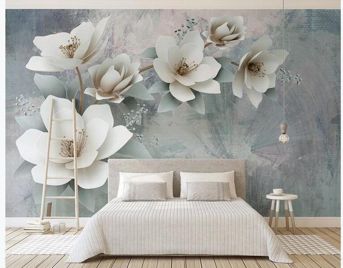 Photo Wallpaper 3D Fashion Flowers Wall Painting European Style Retro Romantic