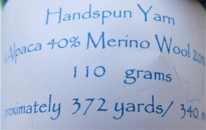 Handspun Yarn – 40/40/20% Alpaca, Merino Wool and Silk – 110 grams – Sport