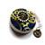 Tape Measure Blue Steampunk Gears Small Retractable Measuring Tape