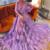 purple prom dresses 2020 long flare sleeve a line elegant romantic cheap prom