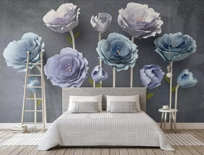Custom Wallpaper 3d Stereo Flowers Modern Minimalist TV Background Murals